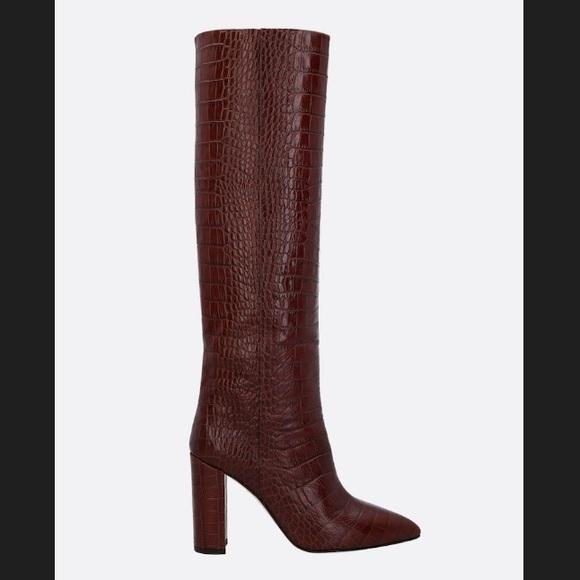 f62402d1f52aa Paris Texas Crocodile Embossed Napa Leather Boots